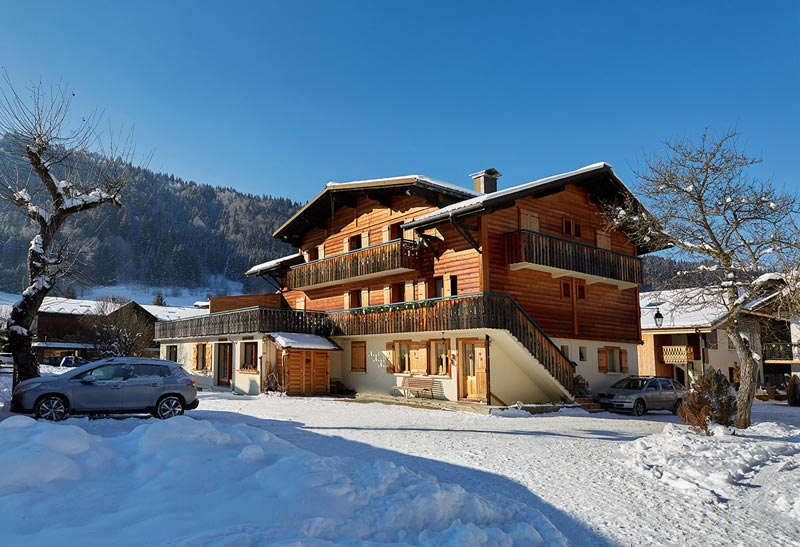 The back of the chalet Armaillis 1 Morzine
